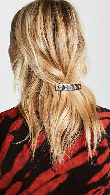 Marc Jacobs Заколка для волос с металлическими заклепками