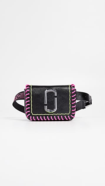 Marc Jacobs M/L Hip Shot Whipstitch Convertible Belt Bag