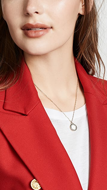 Marc Jacobs Logo Disc Pendant Necklace