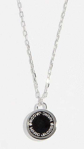 Marc Jacobs 徽标圆片坠饰项链