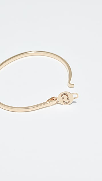 The Marc Jacobs Logo Hinge Cuff Bracelet