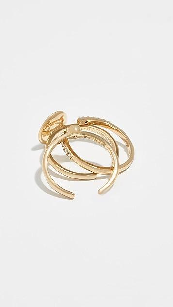 Marc Jacobs Logo Ring Set