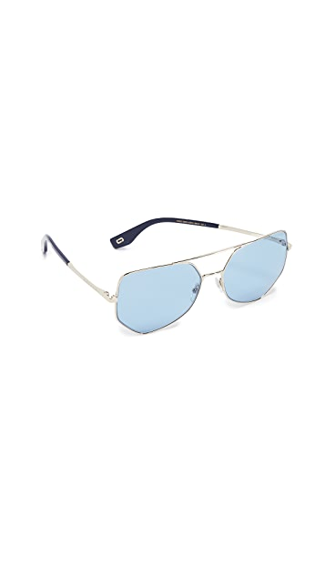Marc Jacobs Geometric Aviator Sunglasses