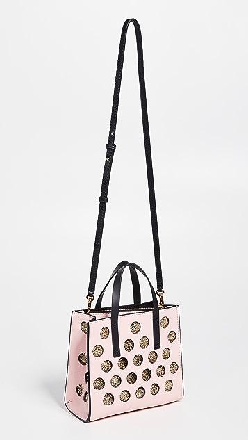 Marc Jacobs Миниатюрная объемная сумка с короткими ручками Grind