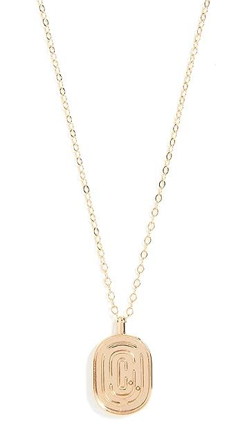 Marc Jacobs Double J Maze Puzzle Pendant Necklace