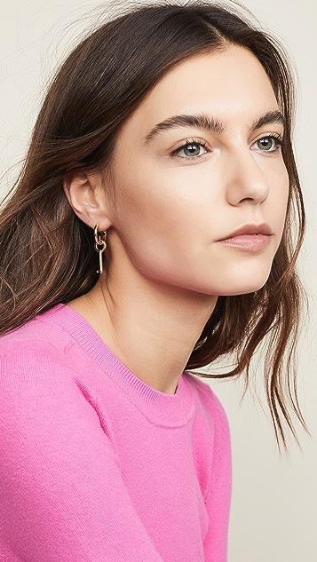Marc Jacobs Key Mini Hoop Earrings