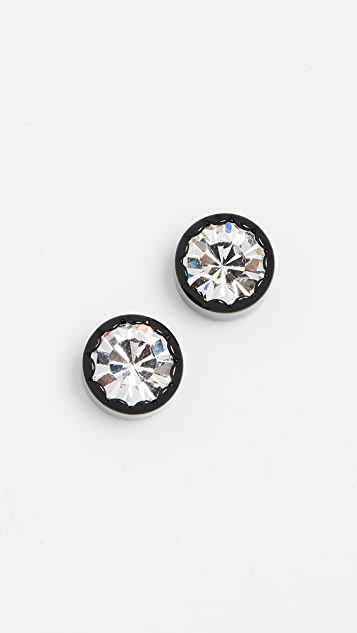 Marc Jacobs Scalloped Stud Earrings