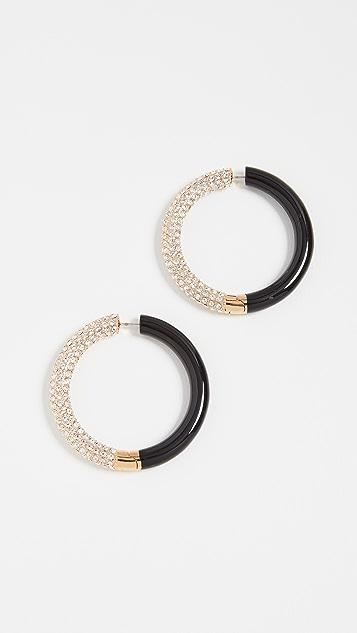 Marc Jacobs Colorblock Crystal Hoop Earrings