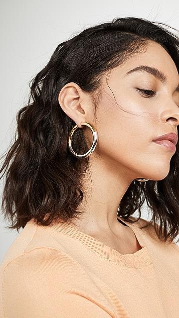 Marc Jacobs Colorblock Hoop Earrings