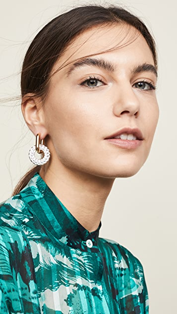 Marc Jacobs Pave Ring Hoops Earrings