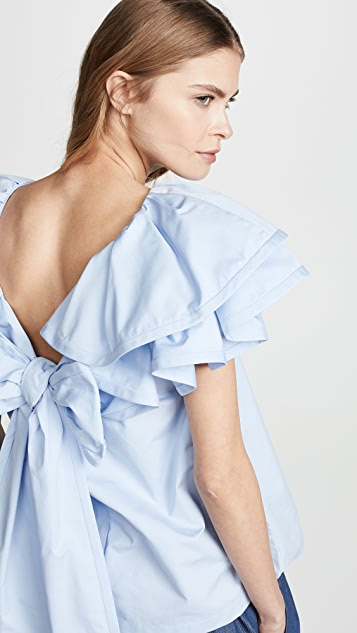 Marc Jacobs Блуза с оборками и короткими рукавами
