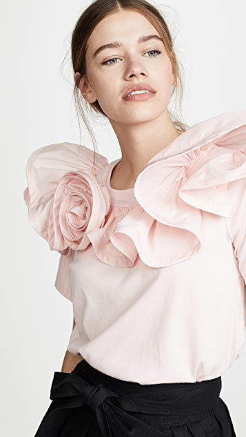 Marc Jacobs Топ с оборками и розочкой