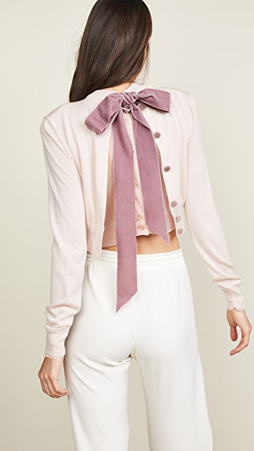 Marc Jacobs Crew Neck Cropped Cardigan
