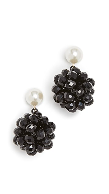 The Marc Jacobs Pearl Crystal Ball Drop Ear
