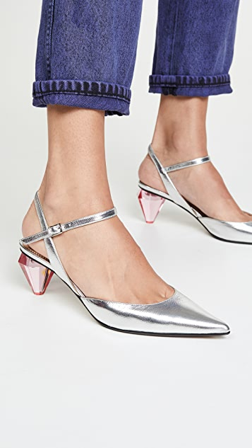 Marc Jacobs The Diamond Heel Slingback Pumps