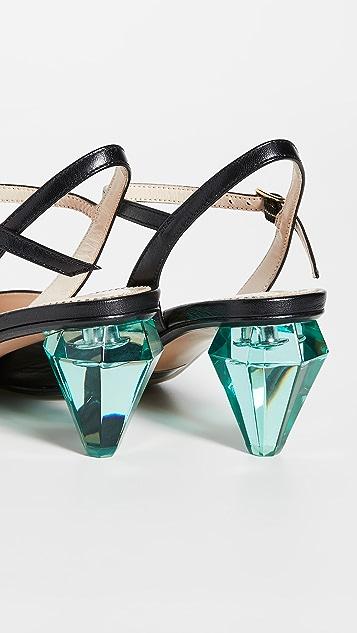 The Marc Jacobs The Diamond Heel Slingback