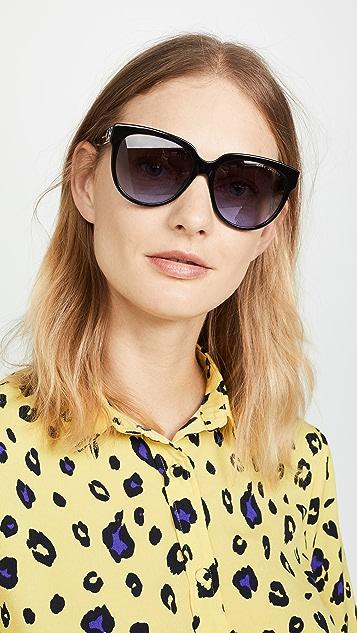 Marc Jacobs Classic Round Acetate Sunglasses