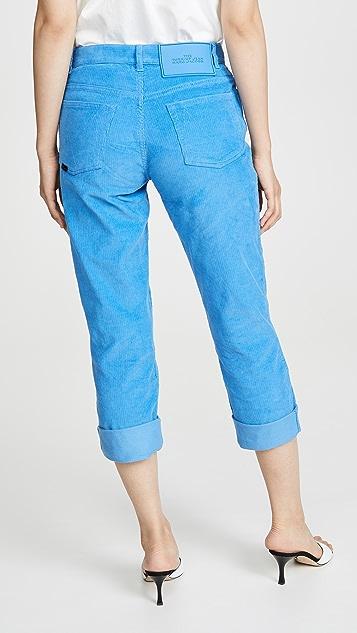 The Marc Jacobs 灯芯绒翻边牛仔裤