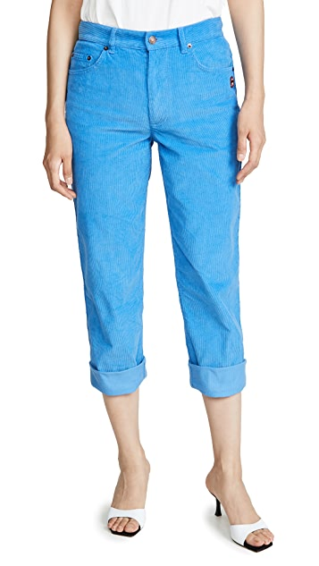 Marc Jacobs The Corduroy Turn-Up Jeans