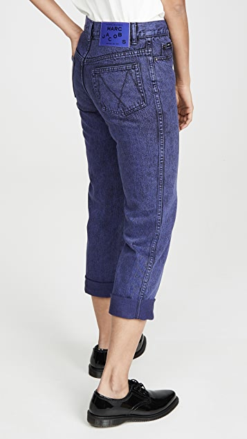 The Marc Jacobs The Turn Up Jeans Overdye