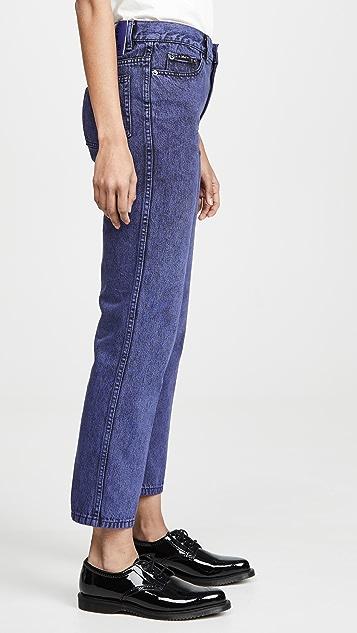The Marc Jacobs 套染翻边牛仔裤