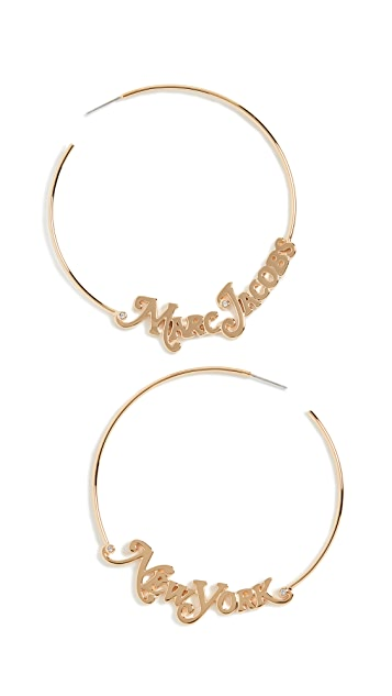 Marc Jacobs The Logo Hoops