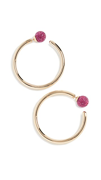 Marc Jacobs Bubbly Large Hoops