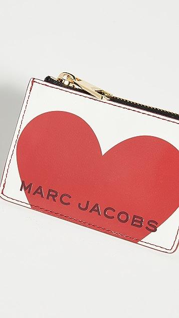 The Marc Jacobs Vday 顶部拉链多功能钱包
