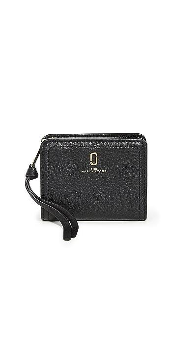 The Marc Jacobs Softshot Mini Compact Wallet - Black