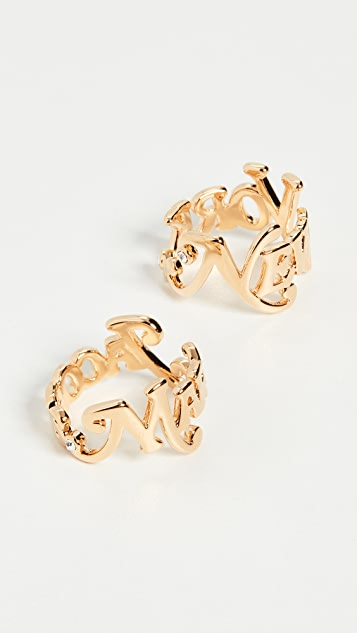 The Marc Jacobs New York x The Logo Stack Rings
