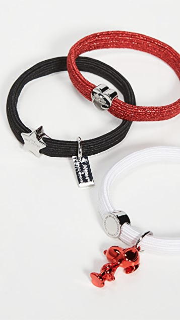 The Marc Jacobs x Peanuts America Elastic Hair Bands