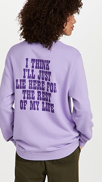 The Marc Jacobs Peanuts Rest of My Life Crew Sweatshirt