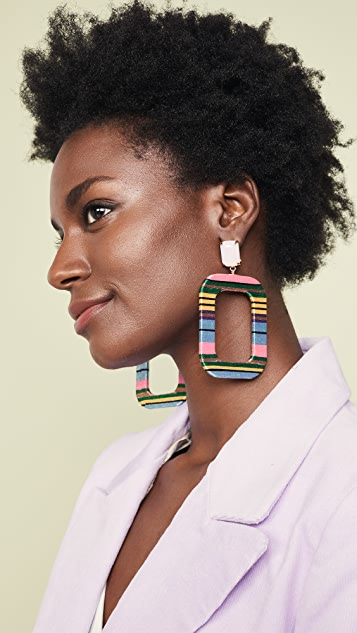 MaryJane Claverol Tijuana Square Earrings