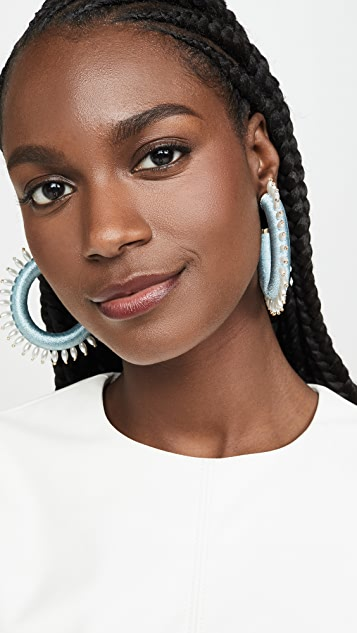 MaryJane Claverol Dallas Hoop Earrings