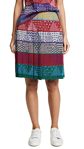 Mary Katrantzou Mandy Knit Sparkle Skirt
