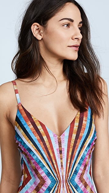 Mary Katrantzou Stripe Swimsuit