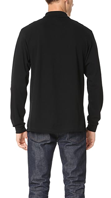 MKI Long Sleeve Badge Polo Shirt