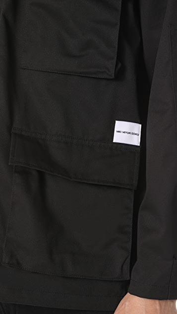 MKI Logo Button Down Overshirt