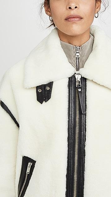 Moose Knuckles Golden Prairie Shearling Jacket