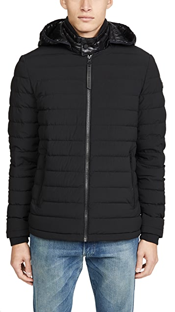 Moose Knuckles Black Rock Lightweight Down Jacket