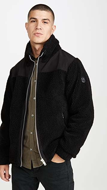Moose Knuckles Barrows Sherpa Zip Up Jacket