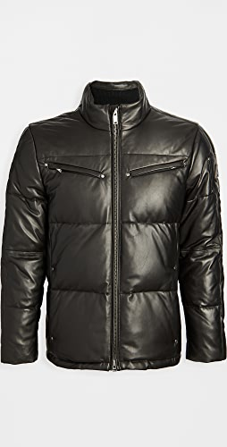 Moose Knuckles - Symington Leather Down Puffer Coat