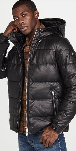 Moose Knuckles - Keg River Leather Puffer Jacket