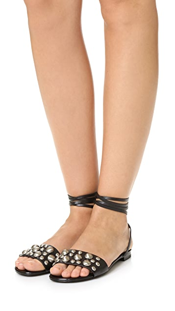 Michael Kors Collection Mica Lace Up Gladiator Sandals