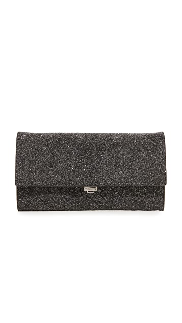 Michael Kors Collection Yasmeen Large Glitter Clutch