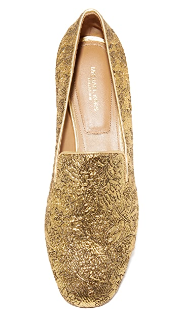 Michael Kors Collection Roxanne Floral Brocade Loafers