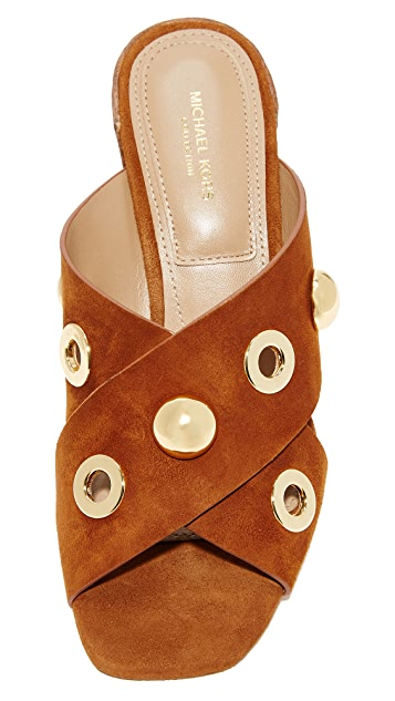 Michael Kors Collection Brianna Crisscross Mules with Grommets