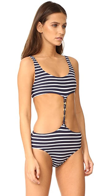 Michael Kors Collection Maritime Nautical Stripes Monokini