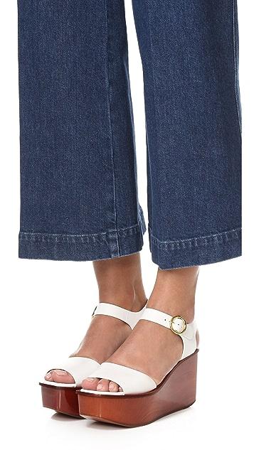 Michael Kors Collection Bridgette Flatform Sandals