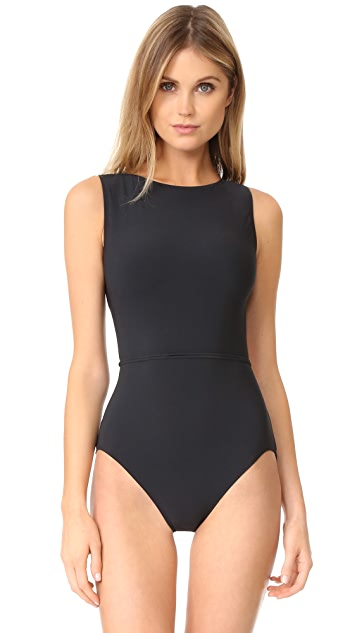 Michael Kors Collection Nautical Strappy One Piece Swimsuit
